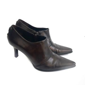 Franco Sarto Ankle Boots Booties Heels Brown Sz 8M